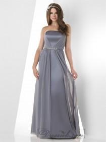 wedding photo - Strapless Flat Panel Shirred Bridesmaid Dresses