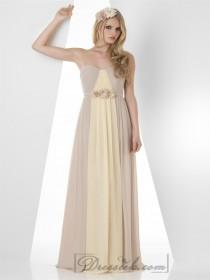 wedding photo - Strapless pleated Chiffon Bridesmaid Dresses