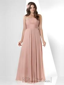 wedding photo - Blush Strapless Shirred Crinkle Bridesmaid Dresses