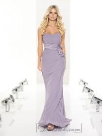 wedding photo - Strapless Sweetheart Floor Length Draped Bodice Bridesmaid Dresses with Gathered Waist