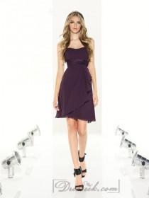 wedding photo - Strapless Knee Length Bridesmaid Dresses with Shirred Empire Bodice Column Skirt
