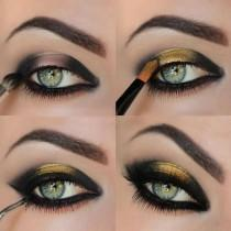 wedding photo - Black And Gold Eyeshadow Tutorial