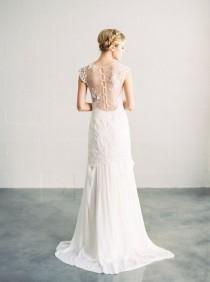 wedding photo - Ava - Beaded Lace And Silk Wedding Dress
