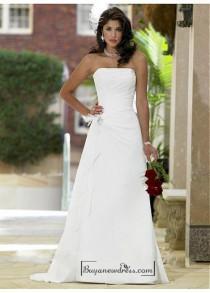 wedding photo - Beautiful Elegant Exquisite Strapless Chiffon A-line Wedding Dress In Great Handwork