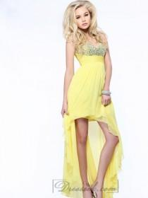 wedding photo - Strapless Sweetheart Beaded High Low Prom Dresses