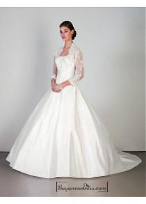 wedding photo - Beautiful Elegant Exquisite Taffeta & Tulle strapless Wedding Dress In Great Handwork