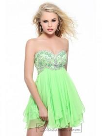 wedding photo - Strapless Sweetheart Beaded Bodice Cocktail Prom Dresses