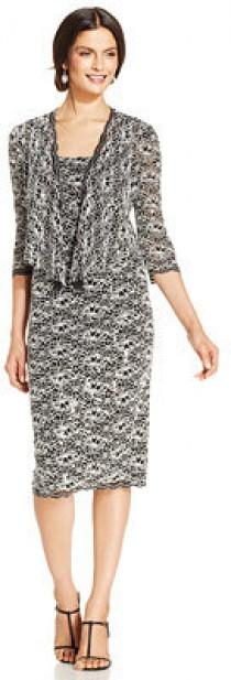 wedding photo - Alex Evenings Crochet Sequin-Lace Dress and Jacket