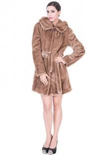 3dafc8c4c2a0 faux fur jacket women with light coffee fur middle women jacket