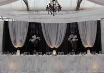 wedding photo - Professional Wedding Backdrop Kit W/Pipe, Drape, Valence: 3 PANEL 6-10ft TALL