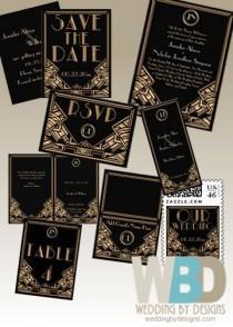 wedding photo - Art Deco Wedding Invitation Inspiration