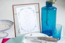 wedding photo - Menu fleuri