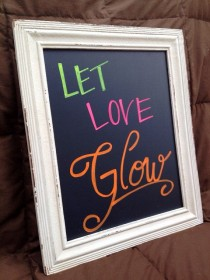 "wedding photo - Wedding ~ ""Let Love Glow"" Sign"