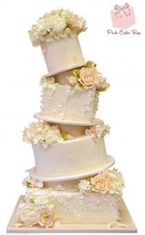 wedding photo - Topsy Turvy Ruffle Wedding Cake » Spring Wedding Cakes