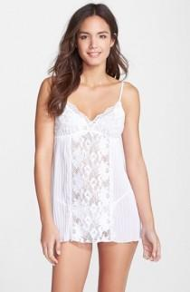 wedding photo - In Bloom by Jonquil Lace Bridal Babydoll & Thong