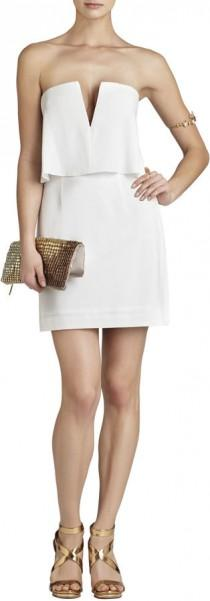 wedding photo - Kate Strapless Ruched-Skirt Dress
