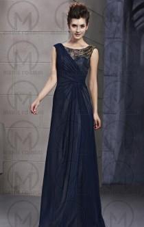 wedding photo -  Navy Blue long formal dresses& cheap formal dresses online for sale