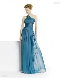 wedding photo - New One-Shoulder Graceful!Strapless Sleeveless 2012 New Sexy Chiffon Evening Dress Party Dress Online with $73.3/Piece on Hjklp88's Store