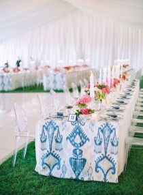 wedding photo - 26 Trendy Printed Tablecloth Wedding Inspirational Ideas