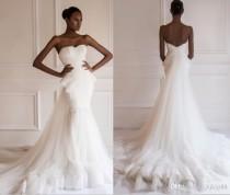 wedding photo - 2015 New Arrival Beautiful Designer Yasmine Yeya Wedding Dresses Lace/Tulle Strapless Bridal Gowns Detachable Wedding Dress, $146.86