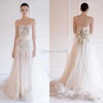 wedding photo - Custom Made 2015 New Arrival Maison Yeya Swxy Wedding Dresses Sweetheart Strapless Lace/Tulle Bridal Gowns Wedding Dress, $112.88