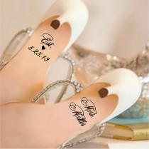 wedding photo - Wedding Shoe Decal / Wedding Shoe Sticker / Personalized Wedding Decal / Personalized Wedding Sticker