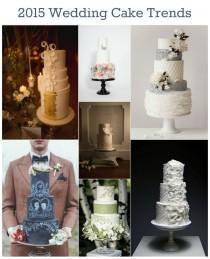 wedding photo - 2015 Wedding Cake Trends