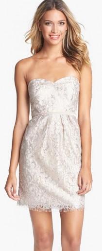 wedding photo - Women's Jenny Yoo 'Hudson' Metallic Lace Sheath Dress (Online Only)