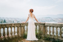 wedding photo - Romantic wedding dress, ivory lace dress, bridal gown, white lace gown, Marriage, Ceremony, Infinity Lace dresses, Lace maxi dress, wedding