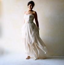 wedding photo - Boho Wedding Dress, Alternative Wedding Gown, Strapless wedding dress, Fairy wedding dress, Beach Wedding dress, Backless wedding dress