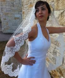 Beaded Lace and Silver or gold Thread, wedding lace veil, bridal lace