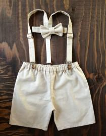 wedding photo - Ring Bearer, Boys outfit, Suspenders Set, Baby boy suit, Braces tie shorts, Ring Boy Outfit, fourtinycousins, Toddler boy, baby boy prop