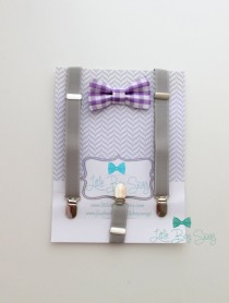 wedding photo - Baby bow bow tie and suspenders..Boys bow tie..1st birthday boy,,Ring bearer outfit..Kids Clothing..Toddler suspenders..Black Tie..Bowtie