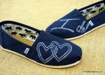 wedding photo - Wedding Custom TOMS Shoes