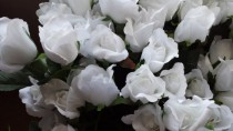 wedding photo - White Silk Roses, 50 DIY Roses, Roses for Weddings,  Roses for Bouquets