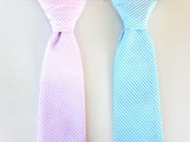 wedding photo - Boys neck tie, baby neck tie, pink tie for boys, blue tie, ring bearer tie, toddler tie, wedding tie, toddler wedding outfit, kids tie
