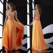 wedding photo - Custom Made New Strapless Beads Crystal Adorned 2014 Dresses Evening Yellow Chiffon Long Jasz Couture Formal Prom Dresses Gowns, $78.06