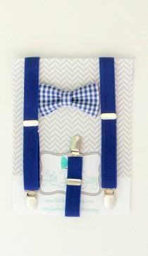 wedding photo - baby boy bow tie suspender set, boys bow tie, 1st birthday boy, ring bearer outfit, boys suspenders and bow tie, toddler suspenders, wedding