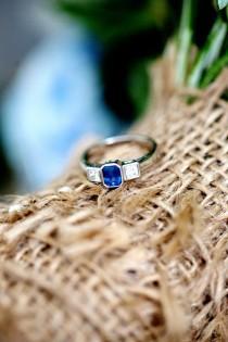 wedding photo - Delightful Blue 1920s Gatsby Feel Floral Wedding