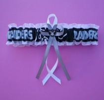 a7ecee3f978c Oakland Raiders Fabric Logo Wedding Garter Toss Football Charm Sport