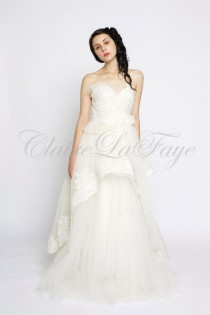 wedding photo - Swan Song - Romantic Silk Organza And Tulle Wedding Gown