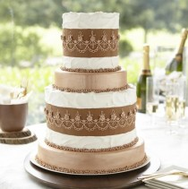wedding photo - Metallic Bronze Tiered Cake