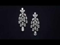 wedding photo - Diamond Chandelier Earrings