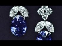 wedding photo - Sapphire And Diamond Drop Earrings