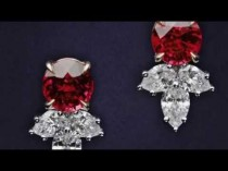 wedding photo - Ruby And Diamond Cluster Earrings Inspired By The House'S Iconic Style
