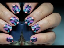 wedding photo - Matte Geometric Tribal Nails