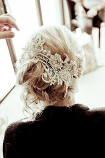 wedding photo - Messy Updo With Loose Curls