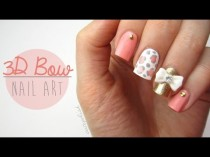 wedding photo - Cute 3D Bow Nail Art