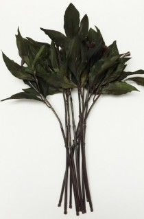 wedding photo - Greenery - 10 Artificial Flower Stems with Dry Look PEONY Leaves for DIY Wedding Bouquets, Flower Arrangements