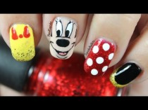 wedding photo - Disney Nail Art *minnie Mouse*